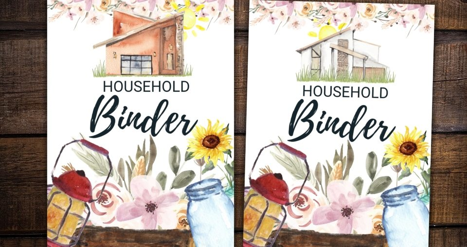 Freebie: Cottage Notes Free Printable Household Binder
