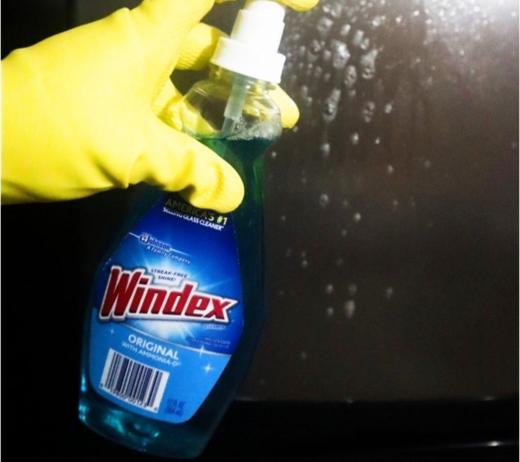 Use Windex Gl Cleaner
